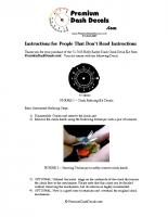 1971 – 1974 B Body Clock Installation